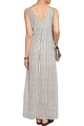 TART COLLECTIONS Oliver striped crepe de chine maxi dress
