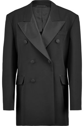 MAISON MARGIELA Silk satin-paneled crepe jacket
