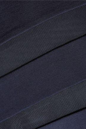 T by ALEXANDER WANG Mesh-paneled stretch-jersey dress