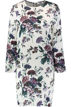 GANNI Floral-print crepe-satin mini dress