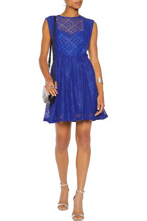 SANDRO Corded lace mini dress