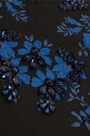 STELLA McCARTNEY Angelica crystal-embellished floral-jacquard gown