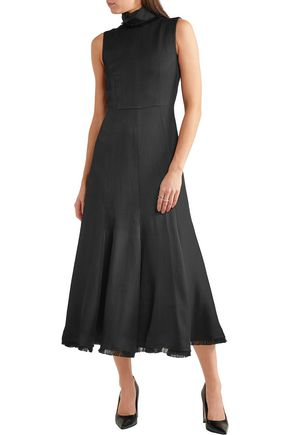 GABRIELA HEARST Ida herringbone woven turtleneck maxi dress