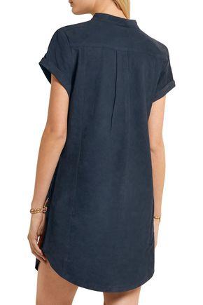 FRAME Le Lace Up suede mini dress