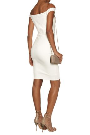 MICHELLE MASON Off-the-shoulder stretch-ponte dress