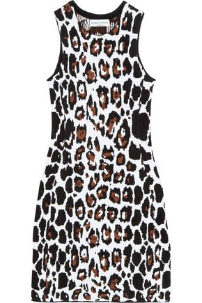 SONIA RYKIEL Leopard-jacquard mini dress