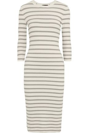 THEORY Delissa striped stretch-knit midi dress