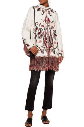 RACHEL ZOE Kayla tasseled embroidered cotton-blend matelassé jacket