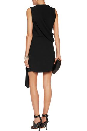 McQ Alexander McQueen Draped crepe mini dress