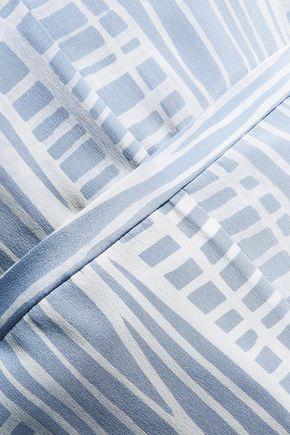 HALSTON HERITAGE Printed silk crepe de chine top