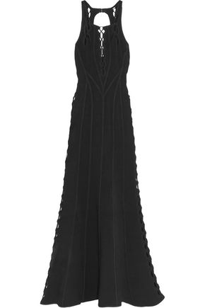 HERVÉ LÉGER Lace-up bandage gown