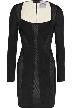 HERVÉ LÉGER Textured-bandage mini dress