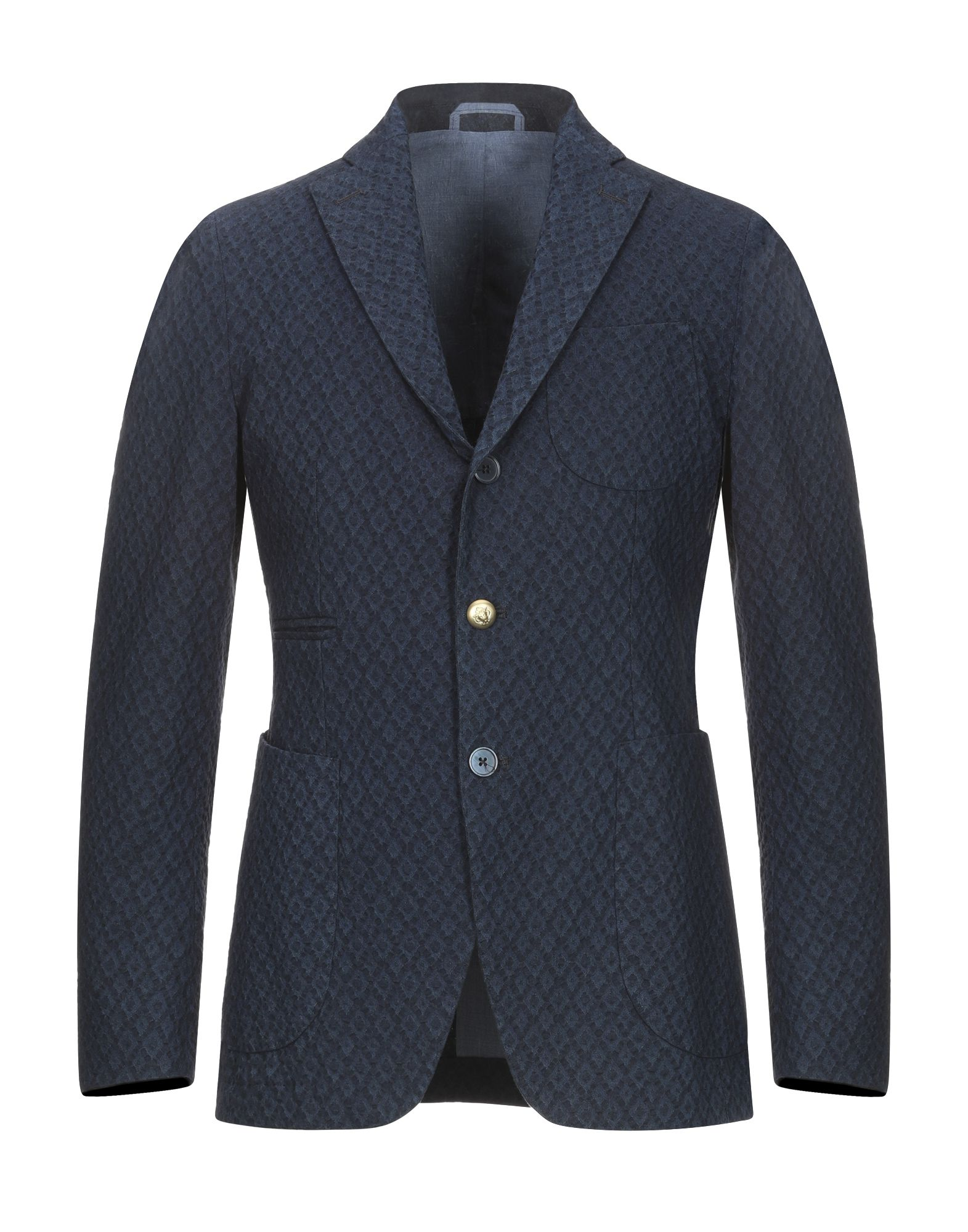 《送料無料》JOHN SHEEP メンズ テーラードジャケット ブルー 46 100% コットン