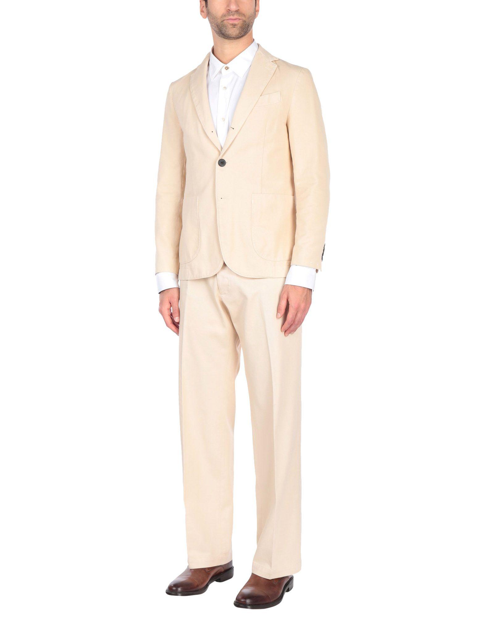 《送料無料》DOPPIAA メンズ スーツ ベージュ 46 コットン 100%