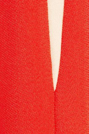 STELLA McCARTNEY Victoria two-tone stretch-cady dress