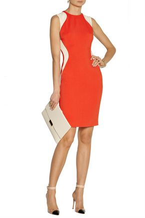 STELLA McCARTNEY Victoria two-tone stretch-cady dress