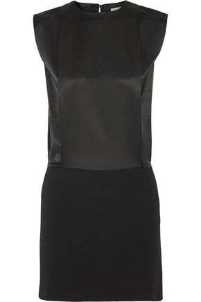 TOTÊME Érpanay satin and crepe mini dress