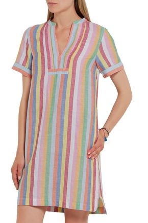 J.CREW Quinlan striped cotton, ramie and linen-blend mini dress