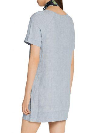 J BRAND Ada linen-chambray mini dress