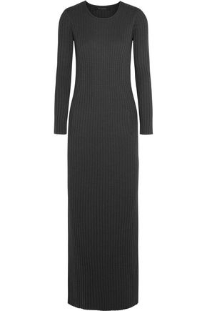 WES GORDON Striped waffle-knit wool-blend maxi dress