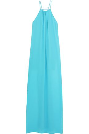 ELIZABETH AND JAMES Adley chiffon halterneck maxi dress