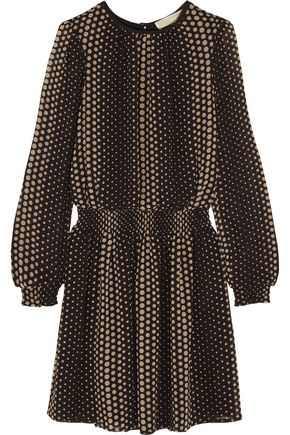 MICHAEL MICHAEL KORS Aralia polka-dot crepe mini dress