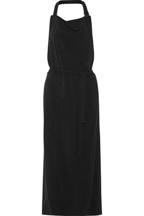 DKNY Twill halterneck dress