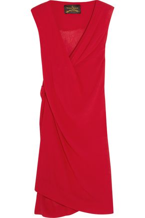 VIVIENNE WESTWOOD ANGLOMANIA Stitch draped crinkled georgette dress