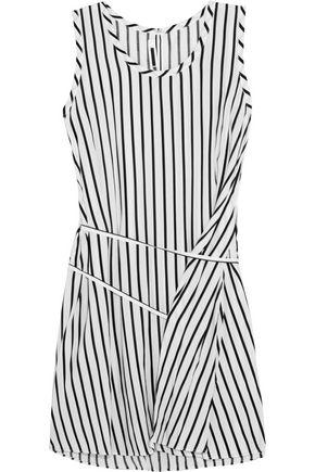 McQ Alexander McQueen Tie-front striped voile mini dress