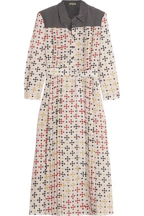 BOTTEGA VENETA Printed silk crepe de chine midi dress