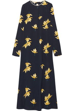 MARNI Printed crepe maxi dress