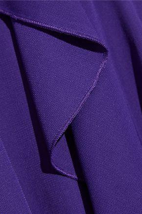 ROBERTO CAVALLI Wrap-effect ruffled stretch-jersey mini dress