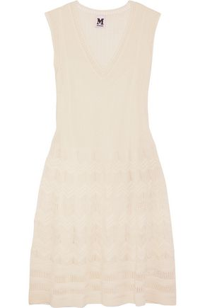 M MISSONI Crochet-knit virgin wool-blend dress
