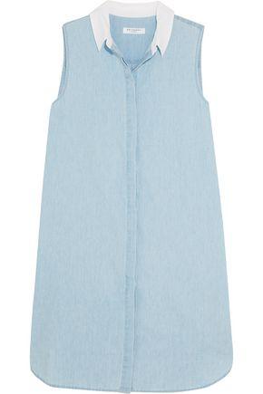 EQUIPMENT Lanie cotton-chambray mini dress