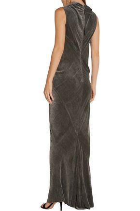 RICK OWENS Bonnie velvet gown