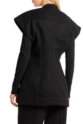 RICK OWENS Wool-blend wrap vest