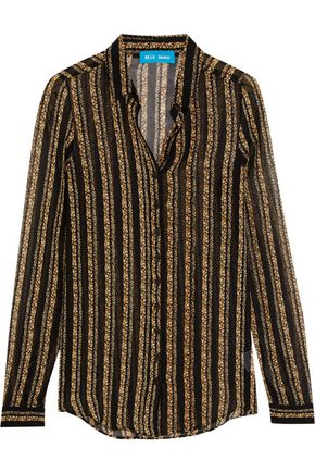 M.I.H JEANS Evelyn floral-print silk-chiffon shirt
