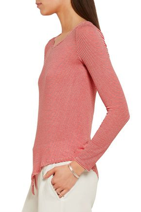 SPLENDID Winward asymmetric striped stretch-jersey top