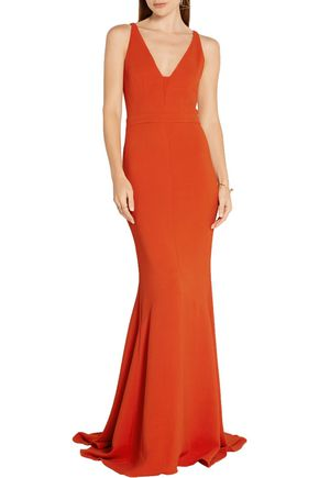 NARCISO RODRIGUEZ Textured stretch-crepe gown