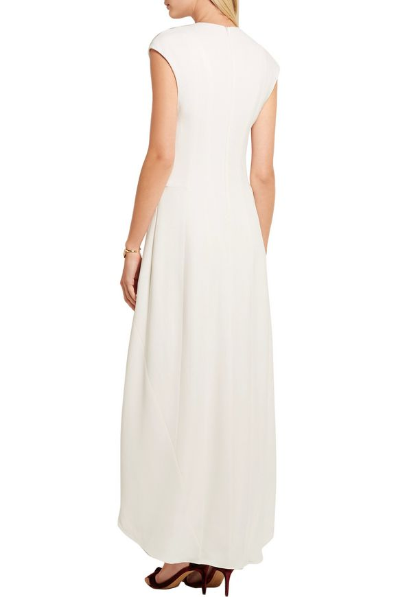 Paneled crepe dress | NARCISO RODRIGUEZ | Sale up to 70% off | THE OUTNET