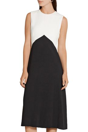 NARCISO RODRIGUEZ Two-tone textured-crepe dress