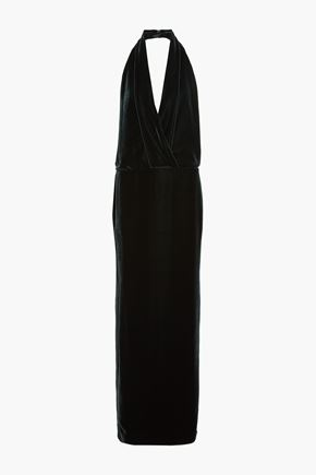 TOM FORD Backless velvet halterneck gown