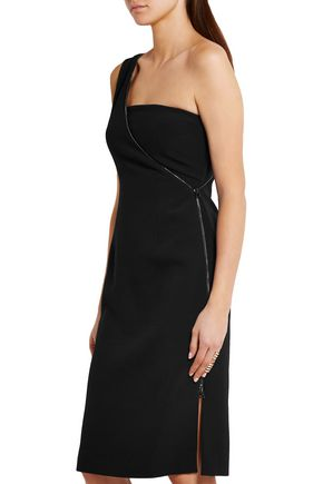 TOM FORD One-shoulder stretch-cady dress