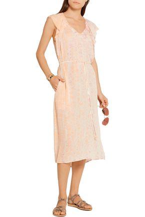 RAQUEL ALLEGRA Tie-dyed silk-georgette dress