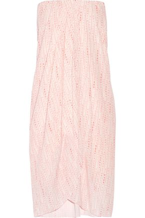 HATCH Panama strapless wrap-effect printed crepe dress
