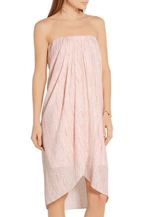 HATCH Panama strapless wrap-effect printed crepe dress