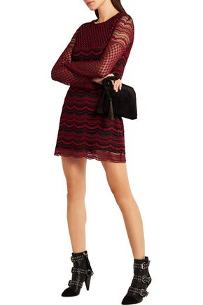 PHILOSOPHY di LORENZO SERAFINI Embroidered tulle mini dress