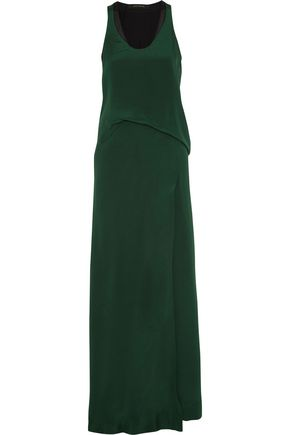 CEDRIC CHARLIER Silk crepe de chine maxi dress