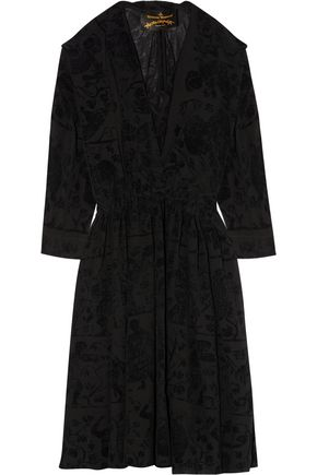 VIVIENNE WESTWOOD ANGLOMANIA Harima flocked crepe dress