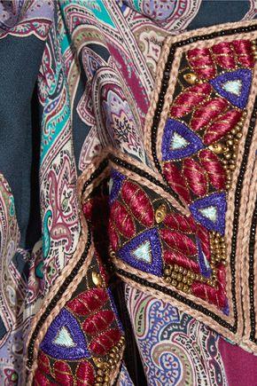 ETRO Embellished paisley-print silk maxi dress